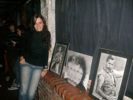 At the exhibition by argentinian-queen