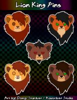 Lion King Pins - Male Lions by Demy-Stardust