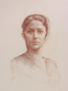 portrait of  girl by amirem