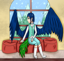 SM: Watching the snow fall by TheYamiClaxia