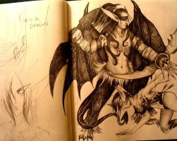 Illidan.....yet another one by AzureWyvern