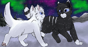 Snowheart And Whitefoot by CascadingSerenity