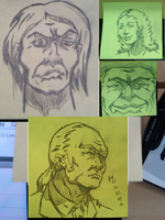 Post It Work Sketches by cmbarnes