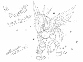 Heart Breaker Pony Sketch  by Chibi-Cola-SkyWolf62