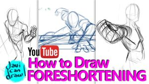 HOW TO DRAW FORESHORTENING - A YouTube Tutorial by javicandraw