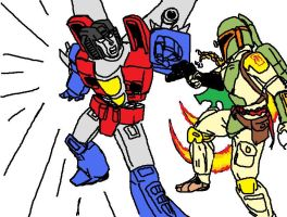 Tablet- Fett vs Starscream by StarWarsGURU
