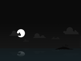 night at the island by PaulEnsane