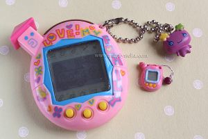 Tamagotchi - Clay Miniature by thinkpastel