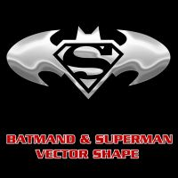 Batman Superman Combo Shape by Retoucher07030