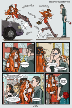 Woman Scorned pg 9 by DrawDrone