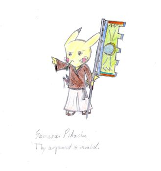Samurai Pikachu by AuraWing07
