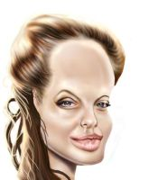 Jolie Caricature by jonesmac2006