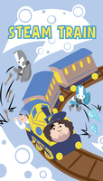 All Aboard the Steam Train by CaptnPenguin
