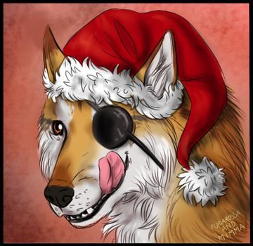 Commission - Werewolf Christmas 1 by FuriarossaAndMimma