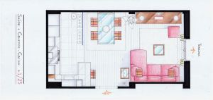 Arantxa's Sitting Room Plan by nikneuk