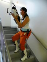 Portal 2: Chell Cosplay by lalalaloserface