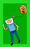 Finn and Jake Balloon by Estderp