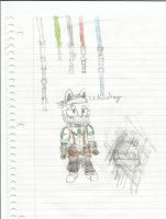 Leftenant.Armstrong and some lightsabers by JacktheWerehog