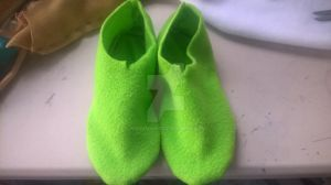 Green Booty Slippers Size 6.5 Womens WIP by Nakumah