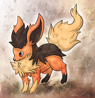 C: Flareon+Mightyena Fusion by Skeletpengu