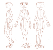 Frog Lass Reference Wip by RoughReaill