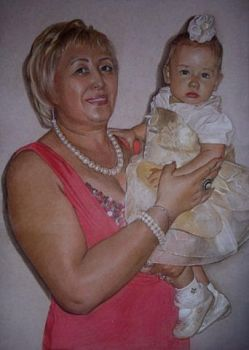 Tanya and her baby Katya by Lizapoly