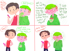 Short septiplier comic Coffee by ChloesImagination
