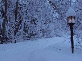 stock, narnian lamppost by Skullb3at