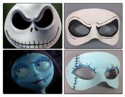 Nightmare Before Christmas masquerade masks by maskedzone