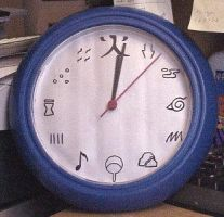 Naruto Headband Clock by snowtigra