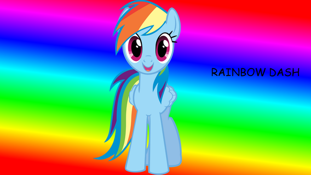ranbow dash wallpaper by JeremiS