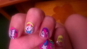 my MLP nails by tmntlei