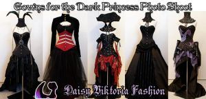 Dark Princess Gowns by DaisyViktoria