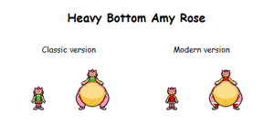 Heavy Bottom Amy Rose by Effra-Bulbizarre