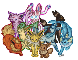 Eeveelution by Muketti