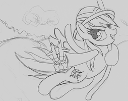 Shadowbox Mock-up Sketch: Daring Do (11 x 14) by The-Paper-Pony