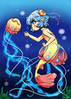 Aurita and the Jellyfish by StarGamer01