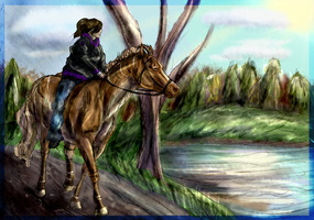 The Trail By the Lake by QueenHalloween