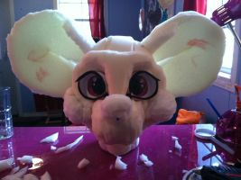 Mouse fursuit head WIP by CookieMonsta409