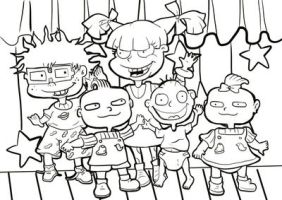 Rugrats Fan Art Commission_WIP_Line art by helencung