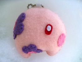 Munna Pokemon Keychain Plush by P-isfor-Plushes