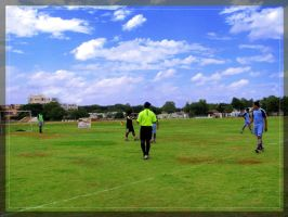soccer ground by artsrajesh