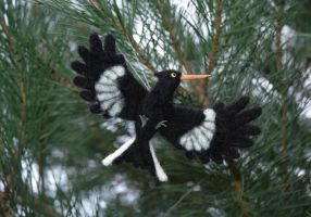 Hunger Games Inspired Mockingjay needle felted by amber-rose-creations