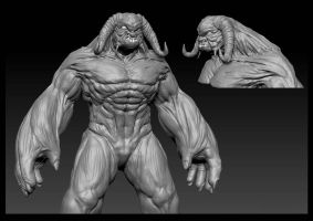 Cave troll WIP by AuDreee