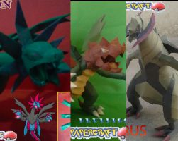 Unova Dragons papercraft by javierini
