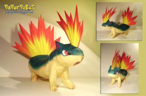 Quilava papercraft by Lyrin-83