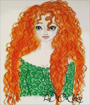 Brave Merida fanart by RaDiOaCtIvE27