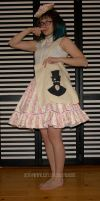 Striped sweet lolita skirt by zeloco
