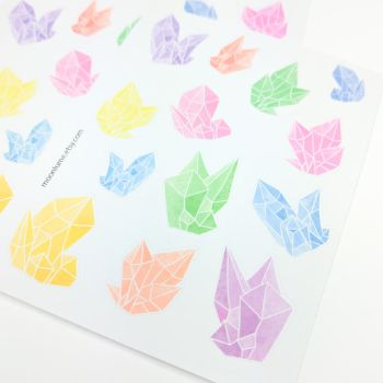 Crystal stickers by FrozenNote