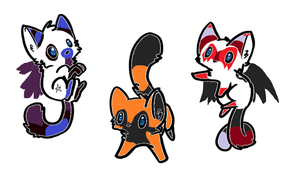 Adoptables! Open 3 points each! by Marlakyokitty
